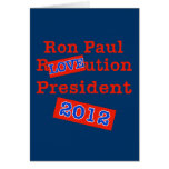 ¡Ution del AMOR de Ron Paul R! ¡Revolución 2012! Tarjetas