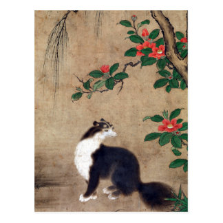 Uto Gyoshi Musk Cat Postcard