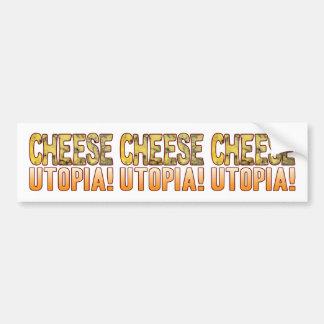 Utopia Blue Cheese Bumper Sticker