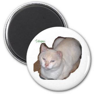 utopía el recorte del gato siamés imán redondo 5 cm