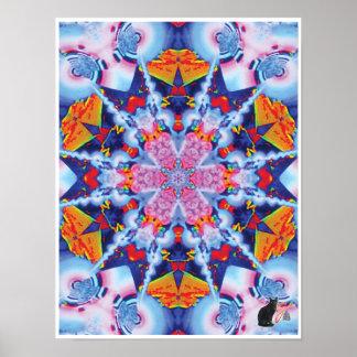 Utopia Kinetic Collage Kaleidoscope Poster
