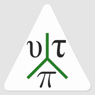 Utopia peace triangle sticker
