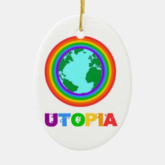 Utopia planet ceramic ornament