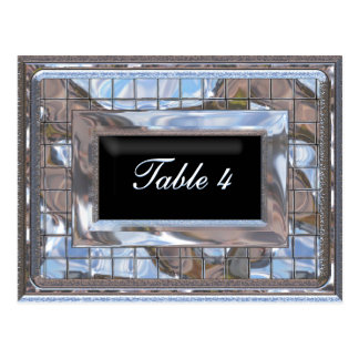 Utopia Table Number Card