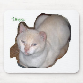 utopia the siamese cat cutout mouse pad