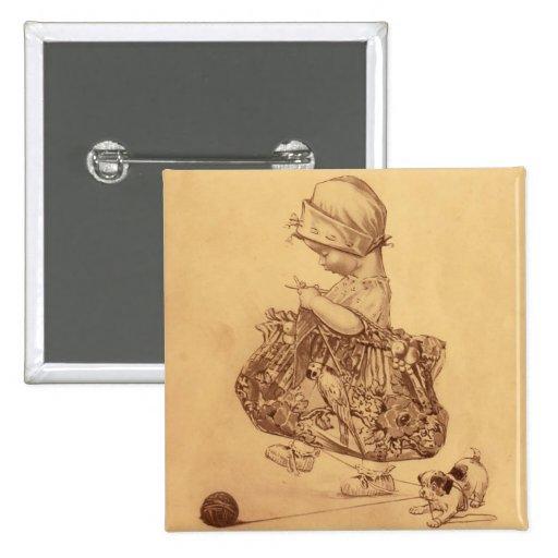 Utopia Yarn Book Pin