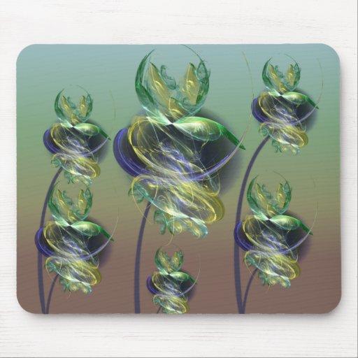 Utopian Alien Flowers Mouse Pad