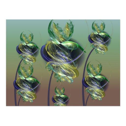 Utopian Alien Flowers Postcard