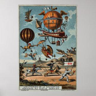 Utopian Flying Machines 1890 ~ 1900 Poster