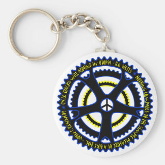 Utopian society will have bicycles basic round button keychain