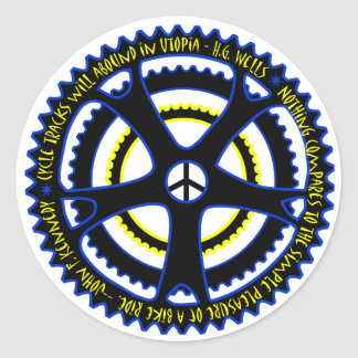Utopian society will have bicycles classic round sticker