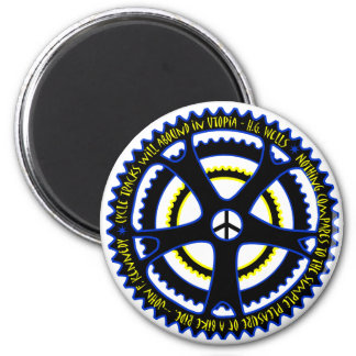 Utopian society will have bicycles magnet