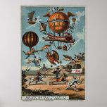~ utópico 1890 de las máquinas de vuelo 1900 poster