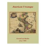 Utramque de Americam - norte y mapa de Suramérica Postal