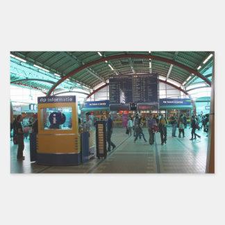 Utrecht Central Station Rectangular Sticker