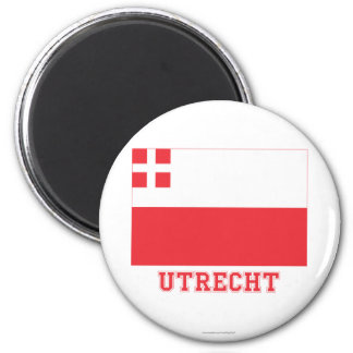 Utrecht Flag with name Magnet
