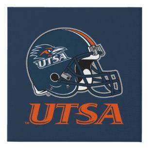 66d73b888 UTSA Football Helmet Faux Canvas Print