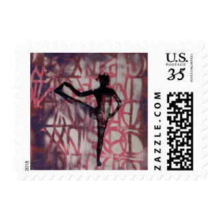 Utthita Yoga Girl - Postage Stamp