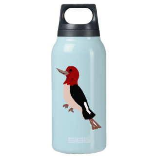 UU- Amazing Red Headed Woodpecker Art Insulated Water Bottle