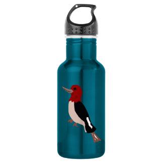 UU- Amazing Red Headed Woodpecker Art Water Bottle