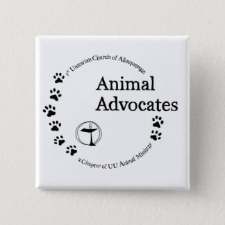 UU Animal Advocates Logo Pinback Button