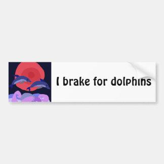 UU- arte agraciado del primitivo de los delfínes d Pegatina Para Auto