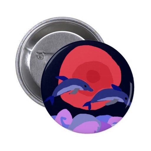 UU- arte agraciado del primitivo de los delfínes d Pin Redondo 5 Cm