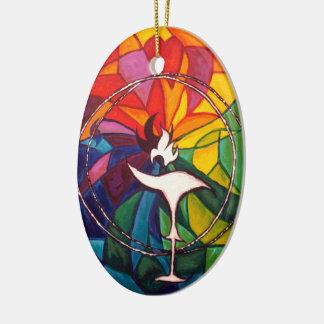 UU Chalice Oval Ornament Unitarian Universalist
