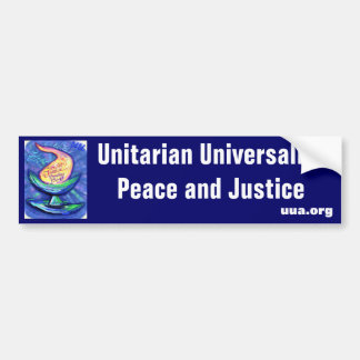 UU Chalice Peace and Justice Bumper Sticker