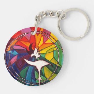 UU Chalice Round KeyChain Unitarian Universalist