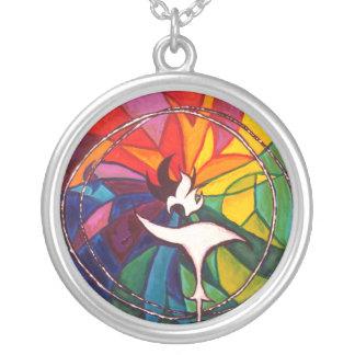 UU Chalice Round Necklace Unitarian Universalist