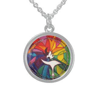 UU Chalice Round Silver Unitarian Universalist Necklace
