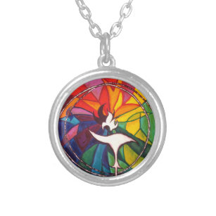 Chalice necklaces lockets zazzle uu chalice silver plated unitarian universalist silver plated necklace aloadofball Gallery