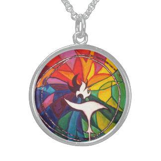 UU Chalice Silver Round Unitarian Universalist Sterling Silver Necklaces