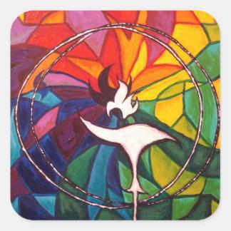 UU Chalice Small Sticker Unitarian Universalist