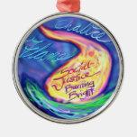 UU Flaming Chalice Christmas Ornament