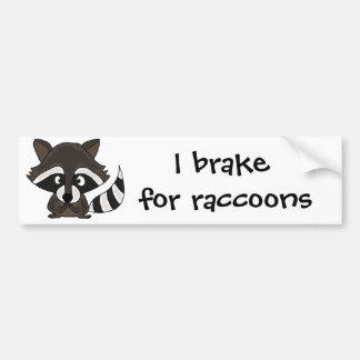 UU- Funny Raccoon Cartoon Art Bumper Sticker