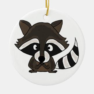 UU- Funny Raccoon Cartoon Art Ceramic Ornament