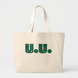 UU Green Religious Symbols Jumbo Tote Bag