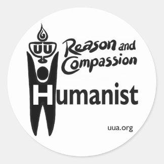 UU Humanist Classic Round Sticker