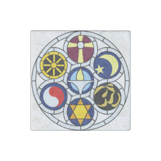 UU Rockford Rehnberg Window Stone Magnet