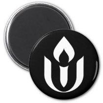 UU White Chalice Symbol Refrigerator Magnet