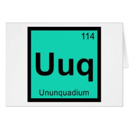 Uuq gifts on zazzle uuq ununquadium chemistry periodic table symbol card urtaz Choice Image