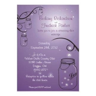 Uva de la púrpura de la invitación del boda de la