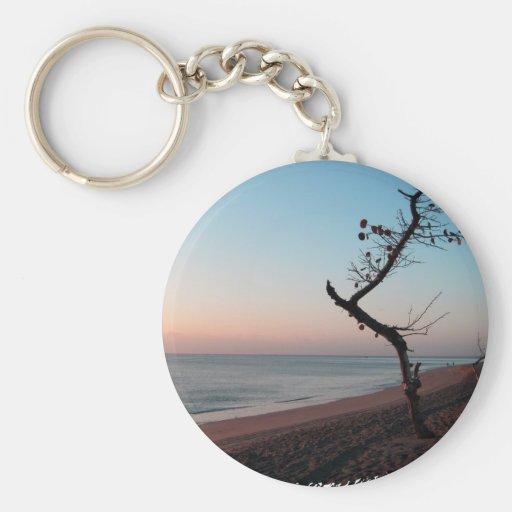 Uva del mar en la salida del sol llavero redondo tipo pin