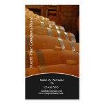 Uva del viñedo del sótano del lagar del perfil del plantillas de tarjeta de negocio