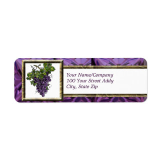 Uva púrpura etiquetas de remite