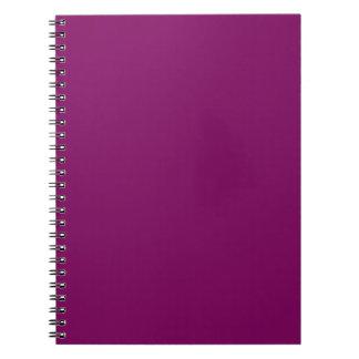 Uva púrpura libretas espirales