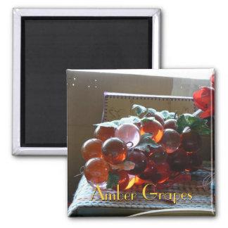 Uvas ambarinas imán cuadrado