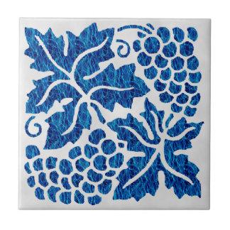 Uvas azules azulejos ceramicos